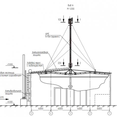 Общий вид конструкции из 5 секций